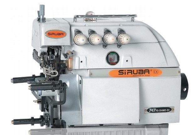 Overlock SIRUBA 4 nitkowy z łożem cylindrycznym 747FS-514M2-24